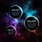 Three planets Stock Image
