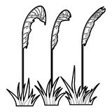 Three plants icon, outline style Stock Photos