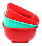 Three plastic bowl Stock Image