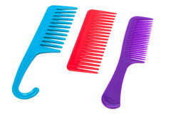 Three plastic comb Stock Image