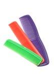 Three plastic combs Royalty Free Stock Photos