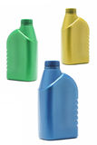 Three plastic  containers Royalty Free Stock Photography
