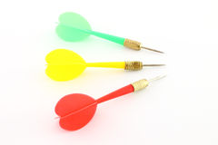 Three plastic darts Stock Photo