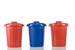 Three plastic drums Royalty Free Stock Photography