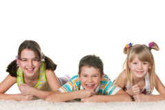Three playful children Royalty Free Stock Images