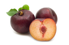 Three plum Royalty Free Stock Photo