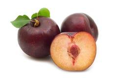 Three plum Royalty Free Stock Photo