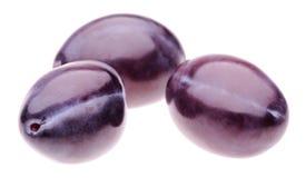Three plums Royalty Free Stock Image