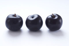 Three plums Stock Photo