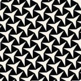 Three-Point- Sternchen-Vereinbarung abstrakter Geometrie Schwarzweiss--deco Kunst Stockfoto