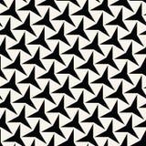 Three-Point- Sternchen-Vereinbarung abstrakter Geometrie Schwarzweiss--deco Kunst Stockbilder
