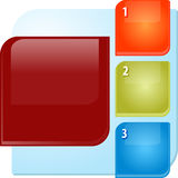 Three points Blank business diagram illustration Stock Photos