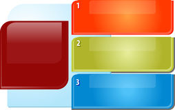 Three points Blank business diagram illustration Royalty Free Stock Image