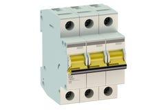 Three-pole miniature circuit breaker Royalty Free Stock Image