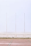 Three poles during stormy weather Stock Photos