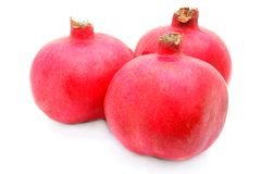 Three Pomegranate Royalty Free Stock Photos
