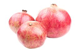 Three pomegranate Stock Images