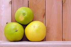 Three pomelo Stock Image