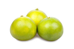 Three Pomelo Fruits Stock Photo