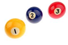 Three pool balls Stock Image