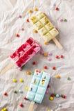 Three popsicles ice cream Stock Photo