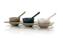 Three porcelain cups Stock Photos