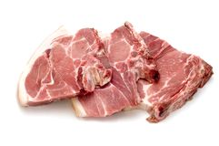 Three pork chop stock photography