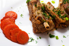 Three pork ribs stew with sweet and sour sauce Stock Images