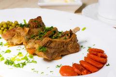 Three pork ribs stew with sweet and sour sauce Royalty Free Stock Photography