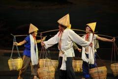 Three porters- Jiangxi opera a steelyard Royalty Free Stock Photo