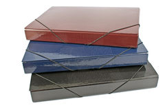 Three portfolio folders Stock Image