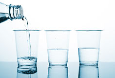 Three portion of water Royalty Free Stock Photo