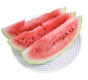 Three portions of water-melon Royalty Free Stock Photos