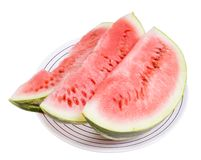 Three portions of water-melon Royalty Free Stock Image