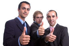 Three positive business men Stock Photos