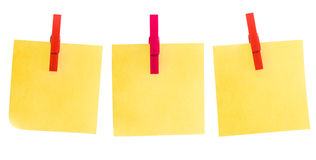 Three post it stock image