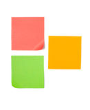 Three post its isolated on white Stock Photography