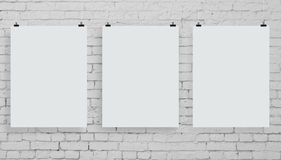 Three poster stock photography