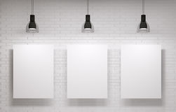 Three posters on the wall Royalty Free Stock Photography