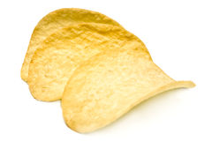Three potato chips Royalty Free Stock Photo
