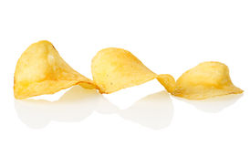 Three potato chips Royalty Free Stock Photo