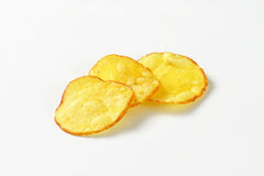 Three potato chips Royalty Free Stock Photography