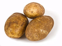 Three Potatoes Stock Photography