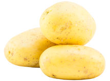 Three potatoes isolate Royalty Free Stock Photography