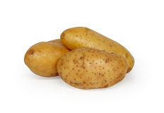 Three Potatoes. Isolated on white background Stock Photography