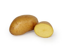 Three Potatoes. Isolated on white background Royalty Free Stock Image