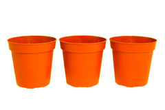 Three pots Royalty Free Stock Photo