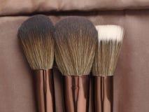 Three powder brushes for make-up Royalty Free Stock Photos