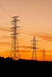Three power-lines Royalty Free Stock Photos