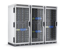 Three power modern server only Stock Photos